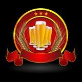Cerveza en vidrio con el grano ilustración del vector