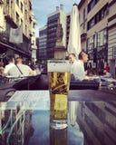 Cerveza enfriada en Budapest Fotografía de archivo