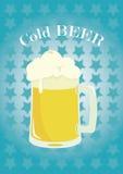 Cerveza fría deliciosa stock de ilustración