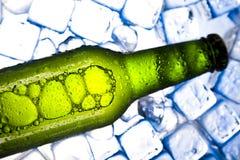 Cerveza fresca tres con hielo Imágenes de archivo libres de regalías