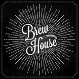 Cerveza Logo On Chalk Background Foto de archivo