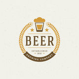 Cerveza Logo Design Element ilustración del vector