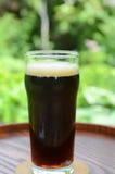 Cerveza negra en el jardín Imagen de archivo libre de regalías