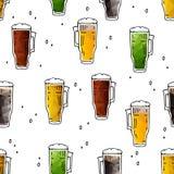 Cerveza seamless-10 stock de ilustración
