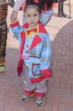 Cerveza-Sheva, ISRAEL - 5 de marzo de 2015: Un niño en un payaso de la chaqueta sin maquillaje Fotografía de archivo