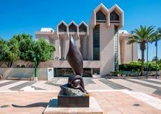 CERVEZA-SHEVA, ISRAEL 10 DE MAYO DE 2014: Un monumento a las víctimas de t Imagen de archivo libre de regalías