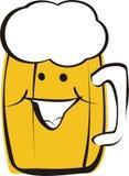 Cerveza sonriente Imagen de archivo libre de regalías