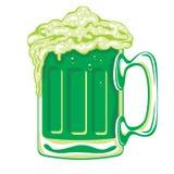 Cerveza verde Foto de archivo libre de regalías