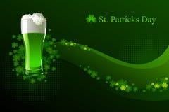 Cerveza verde para el día del St Patrick Fotografía de archivo