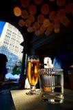 Cerveza y agua Imagenes de archivo