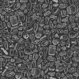 Cerveza y bocados incompletos Imagen de archivo libre de regalías