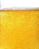 Cerveza y burbujas Fotos de archivo libres de regalías