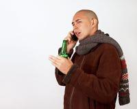 Cerveza y conversación Foto de archivo