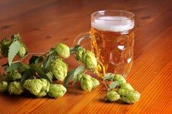 Cerveza y saltos Fotos de archivo