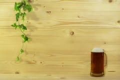 Cerveza y saltos Imágenes de archivo libres de regalías