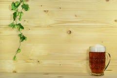 Cerveza y saltos Fotografía de archivo