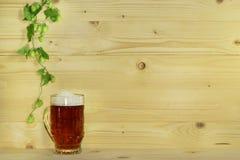Cerveza y saltos Imagenes de archivo