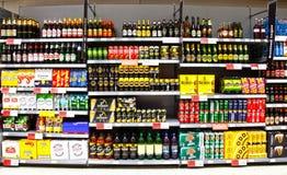 Cerveza y sidra del alcohol fotos de archivo