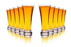 Cervezas de cerveza dorada Fotos de archivo