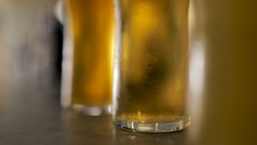 Cervezas en la barra almacen de video