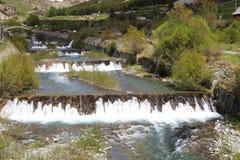 Cervières瀑布,法国 图库摄影