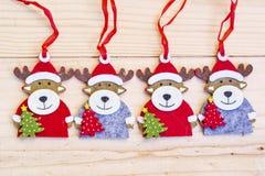 Cervi decorativi di Natale - fondo di Natale Fotografia Stock