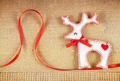 Cervi del feltro di Natale Fotografia Stock Libera da Diritti