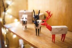 Cervi del giocattolo di Natale Fotografie Stock
