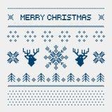 Cervi del pixel ed alberi di Natale sui precedenti bianchi Immagini Stock Libere da Diritti