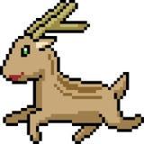cervi di arte del pixel di vettore illustrazione di stock