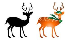 Cervi di natale royalty illustrazione gratis
