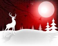 Cervi di Natale di progettazione con la luna royalty illustrazione gratis