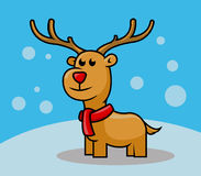 Cervi di Rudolph Fotografie Stock