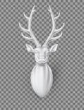 Cervi di vettore con l'illustrazione della scultura dei corni 3d royalty illustrazione gratis