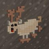 Cervi Reticolo felice senza giunte della famiglia del pixel art Animali divertenti Immagini Stock Libere da Diritti