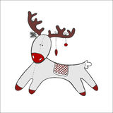 Cervi Santa Claus di Natale. Fotografie Stock
