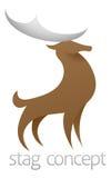 Cervi stilizzati del maschio Fotografia Stock