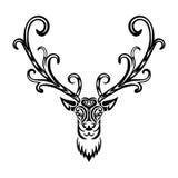 Cervi stilizzati dell'icona creativa di arte Immagine Stock