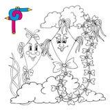 Cervi volanti di immagine di coloritura Illustrazione di Stock