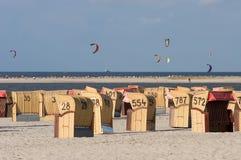 Cervi volanti sopra Laboe Fotografia Stock