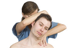 Cervical manipulation. Stock Images