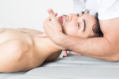 Cervical manipulation Royalty Free Stock Photos