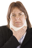 Cervical pain Stock Photos