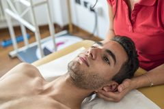 Cervical pain royalty free stock photography