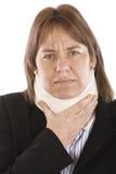cervical smärta Arkivfoton