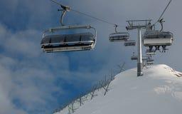 Cervinia катаясь на лыжах 4 Стоковые Фотографии RF