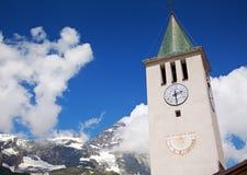 Cervinia, d'Aosta Valle, Италия стоковые изображения rf