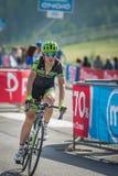 Cervinia, Italia 29 May  2015; Davide Formolo tackles the last climb before arrival Stock Photo