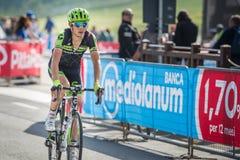 Cervinia, Italia 29 May  2015; Davide Formolo tackles the last climb before arrival Royalty Free Stock Image
