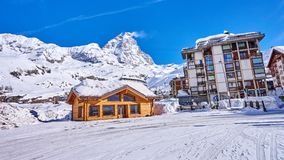 Cervinia Italy is a very popular ski resort in Europe Stock Images
